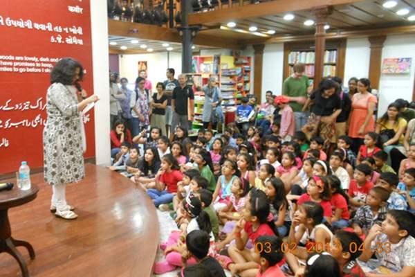 Kala Ghoda children's literature festival at Kitab Khana Bookstore.