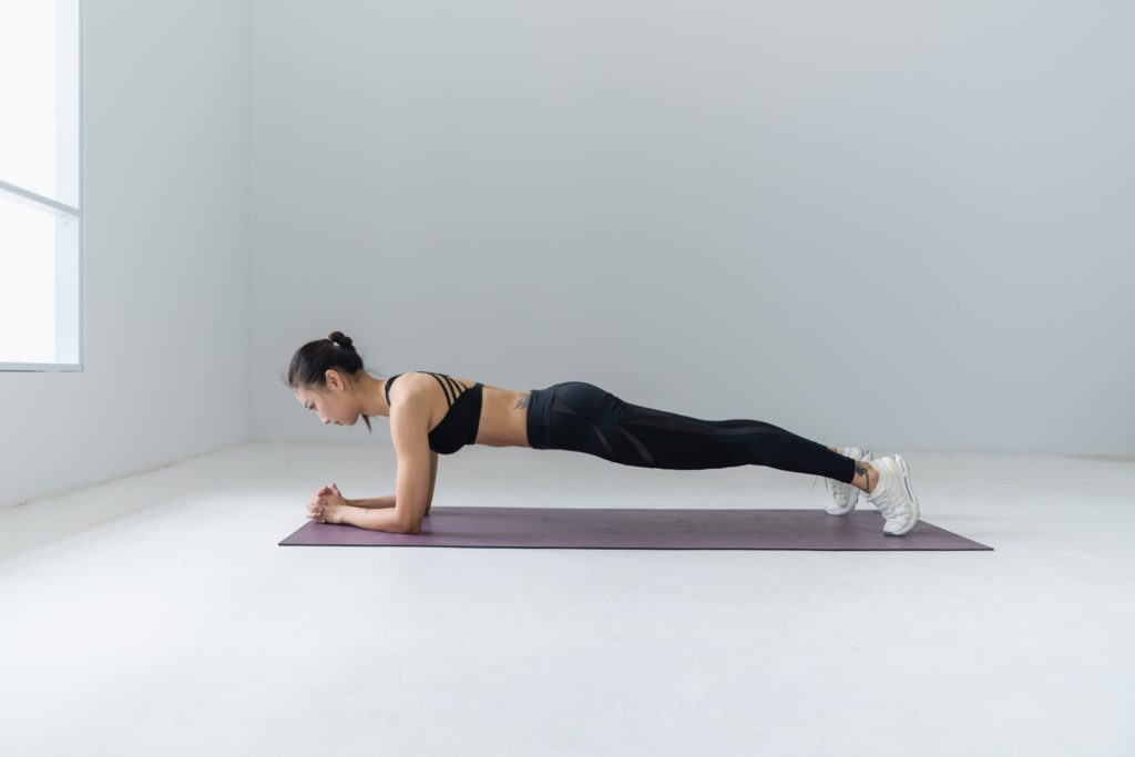 Doing a plank every day can help you lose weight.