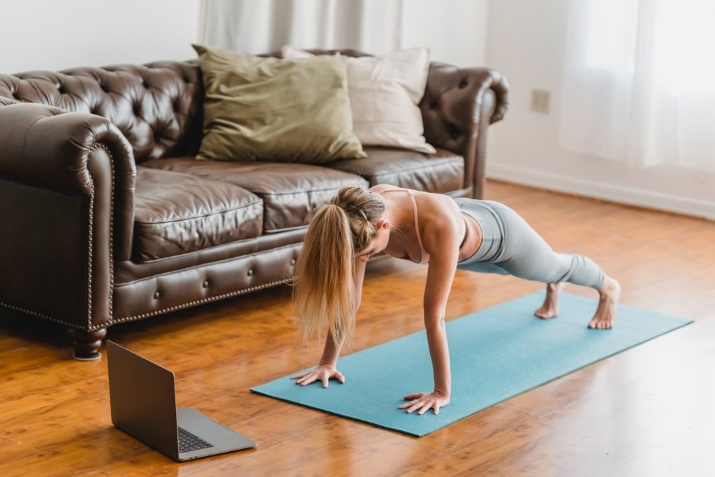The plank exercise can help you with your back ache.